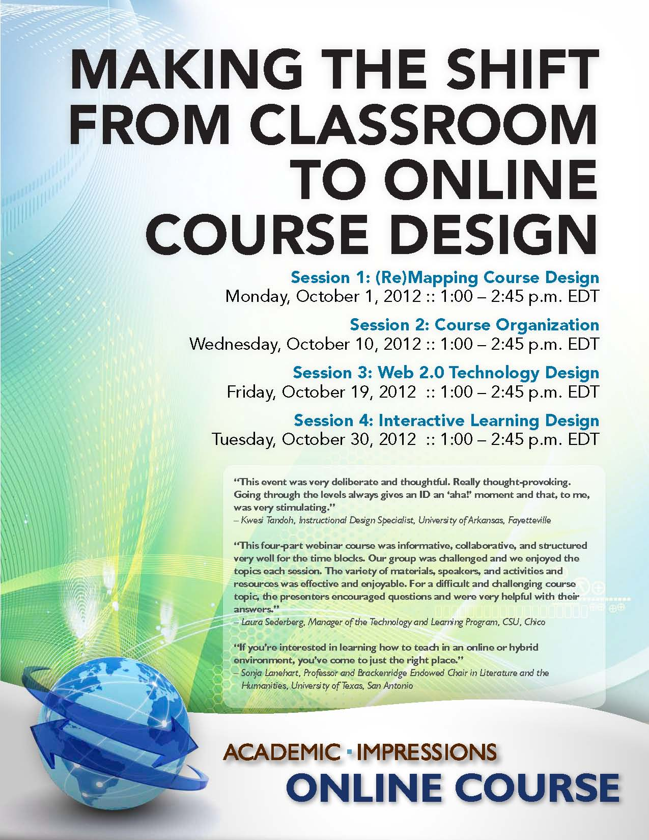 October Online Course