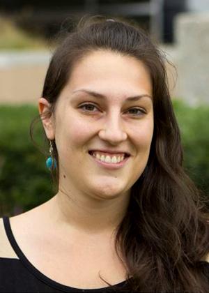 Photo: Sarah Seigle, Academic Impressions, discussing graduate enrollment management