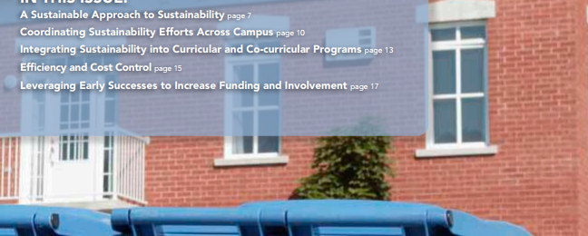 Cover: Road Map for Campus Sustainability Report