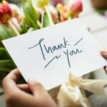 Image of a thank you note