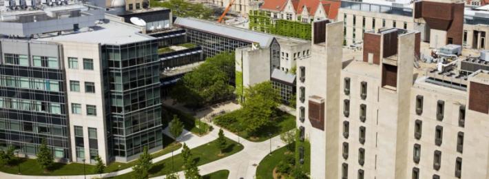 An urban college campus