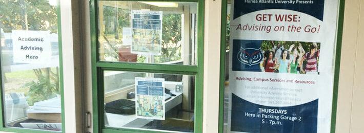 Advising Commuter Students - Signage at Florida Atlantic University