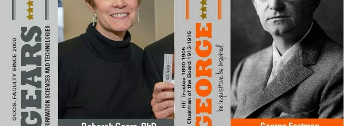Example of RIT's George cards for encouraging interdisciplinary research