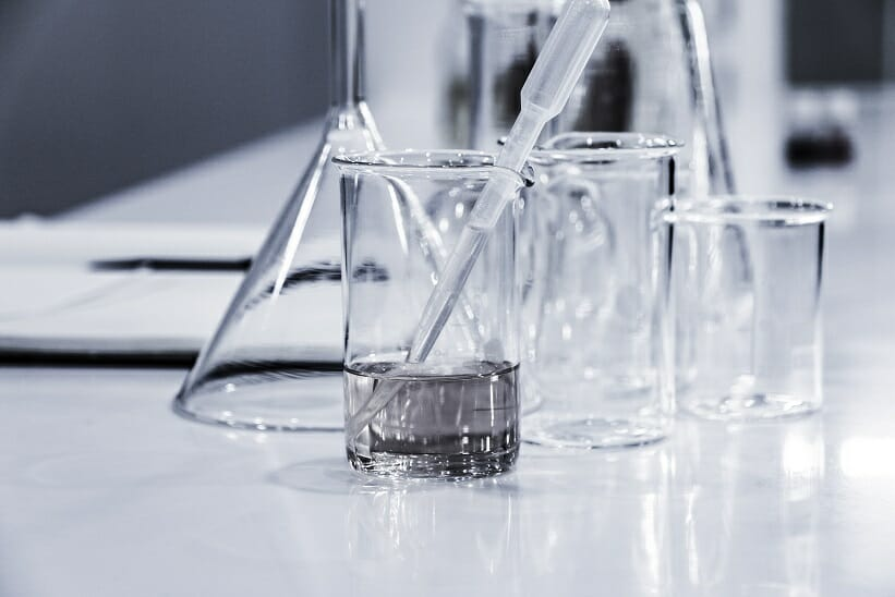 Undergraduate Research: Image of Beakers in a Lab