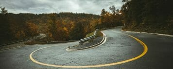 Presidential Dialogues - Effecting Change - Image of a Highway Switchback