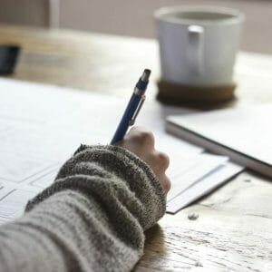 Training Academic Advisors: Image of a Student Studying at a Table