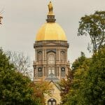 Notre Dame campus in the fall