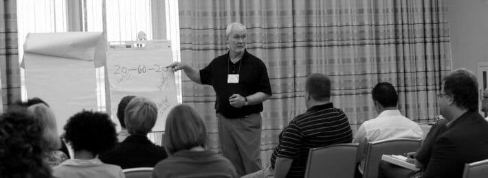 Pat Sanaghan leading a strategic planning discussion