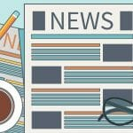 illustration of a news article