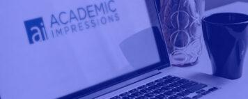 academic impressions logo on a laptop