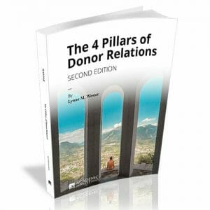 4 Pillars of Donor Relations Book Cover - Second Edition