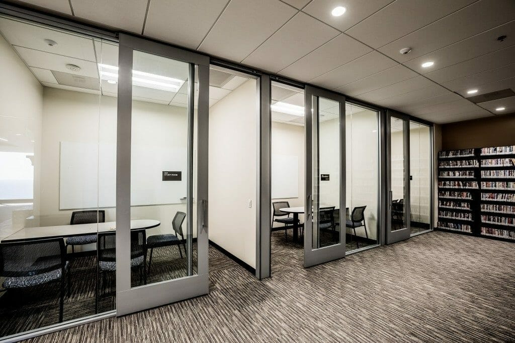 Payson Library: Glassed Study Rooms