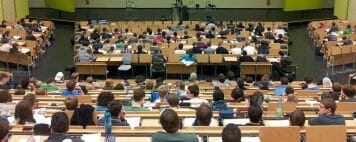 lecture hall full of students