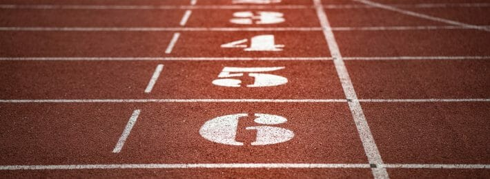 Athletic Department Strategic Planning: Photo of a college track field