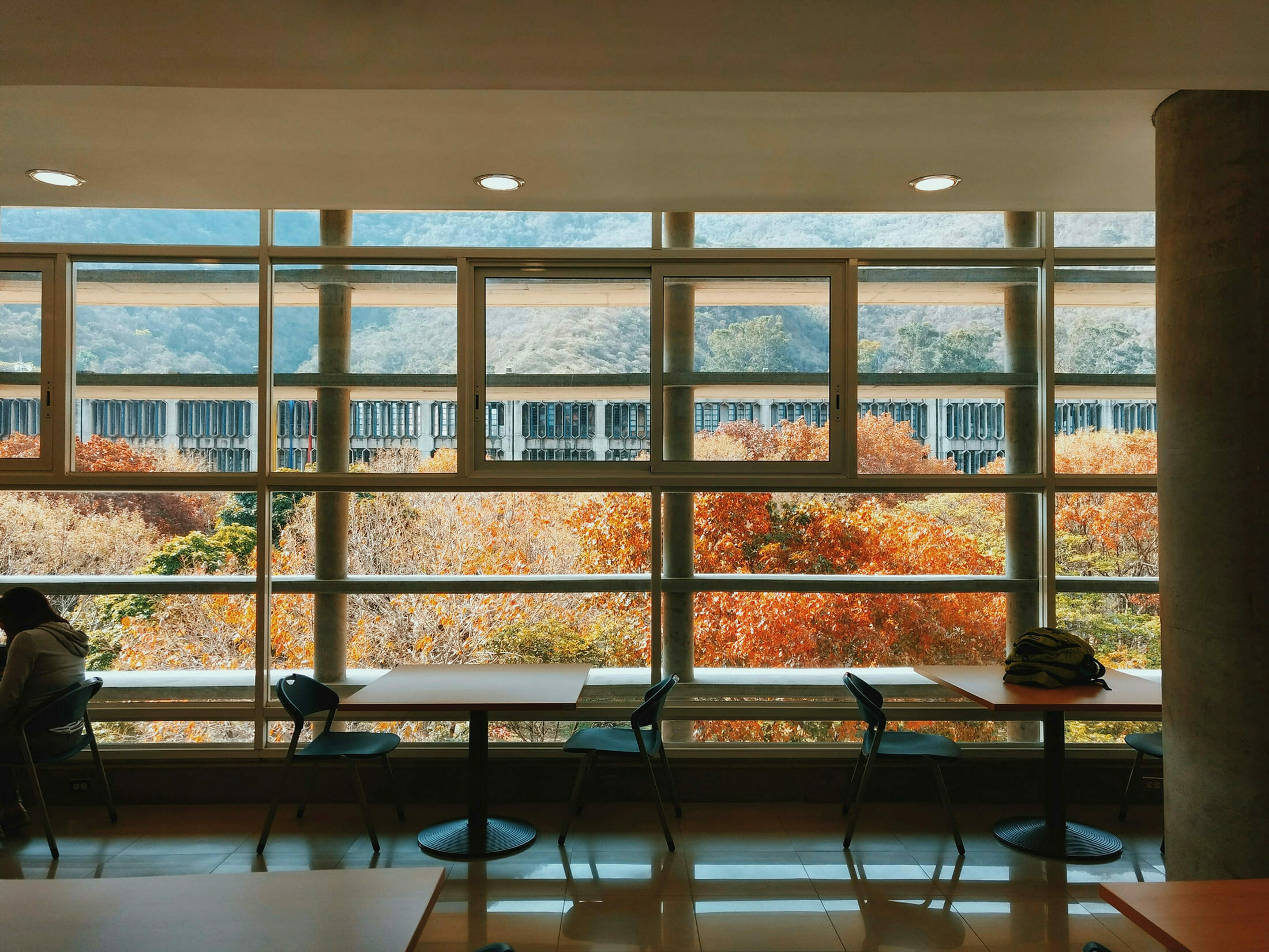 Academic Advising Metrics - Photo of a Place on Campus Where Students Might Meet to Study