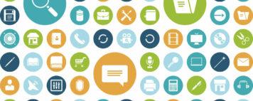 illustrations of badges for online learning