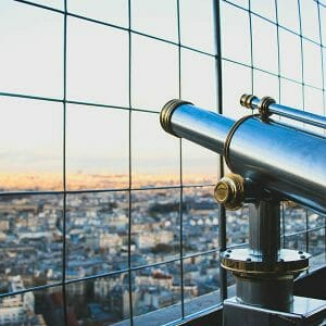Future of Higher Education Metaphor - Image of a Telescope