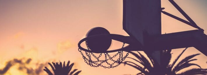 Strategic Planning Process in Athletics - Image of a Basketball Hoop