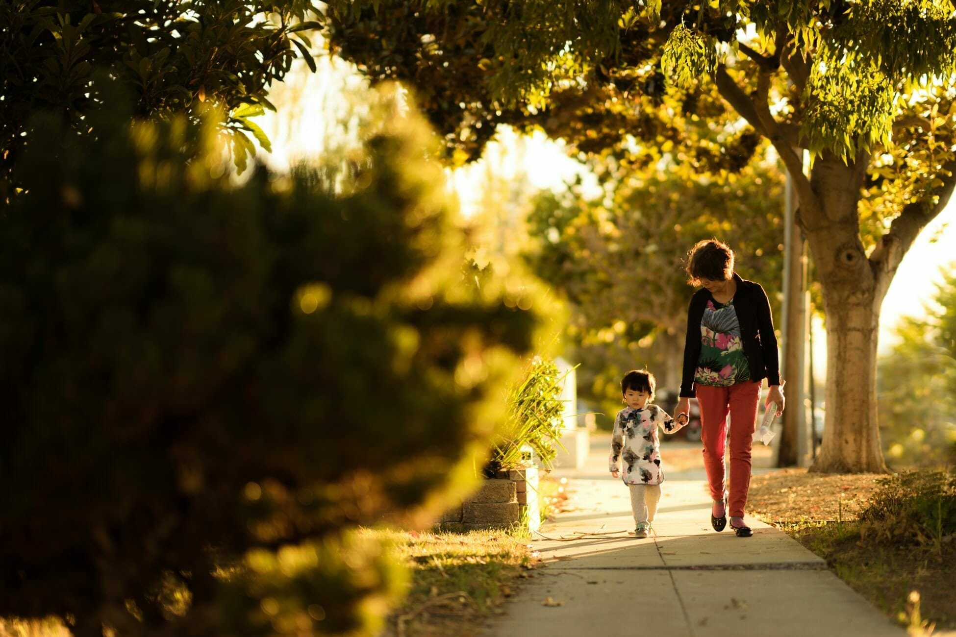 Title IX Reasonable Accommodations - Student Parent Walking with a Child on a Sidewalk