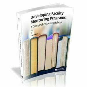 Developing Faculty Mentoring Programs David Kiel Book Cover