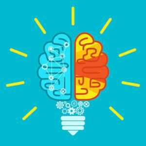 Brain idea vector graphic