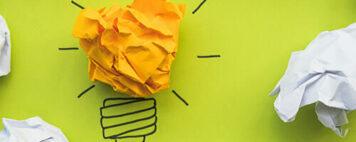 Paper lightbulb image