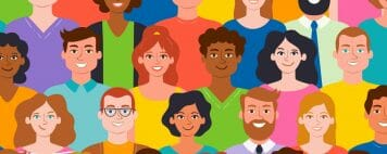 Vector image of diverse people