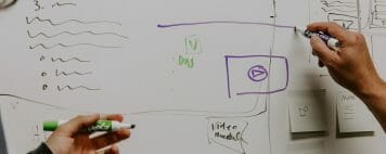 Faculty Advisors - Image of a Whiteboard for Designing an Advising Website