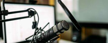 Podcasting set up