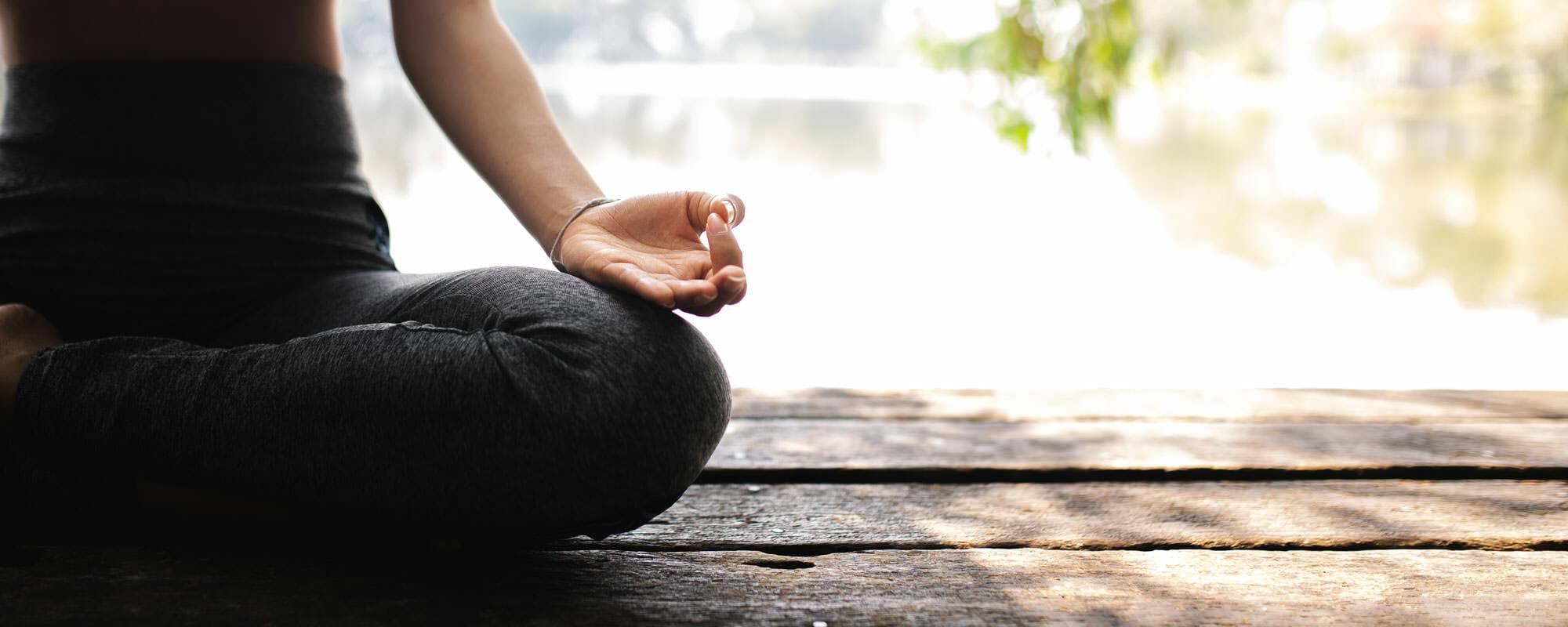 Meditating hero