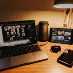 Photo: A class gathering remotely via laptop
