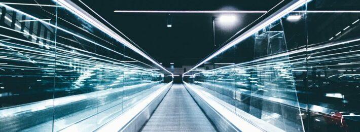 A high-speed photo of a high-tech railway