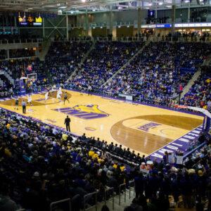 College basketball game