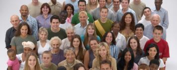 Diverse large group