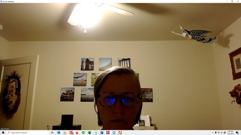 Webcam video call screenshot