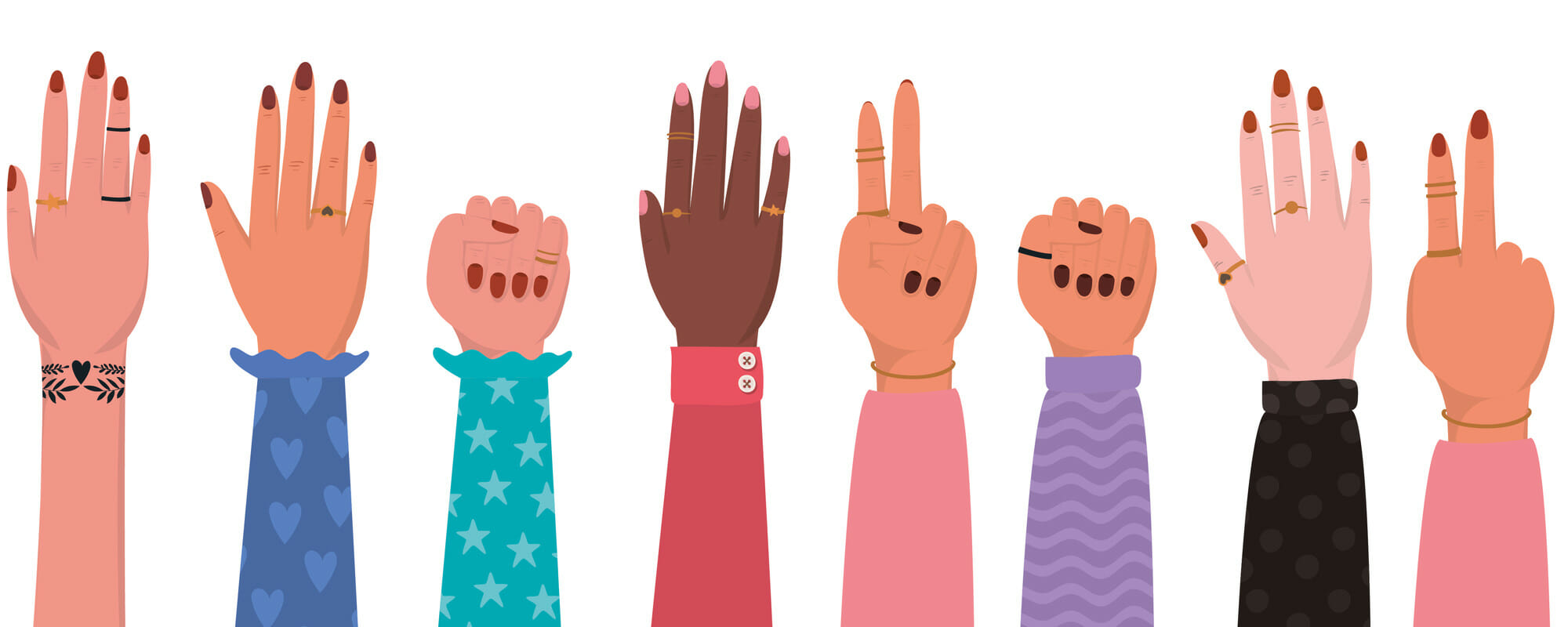 Women's hands in the air