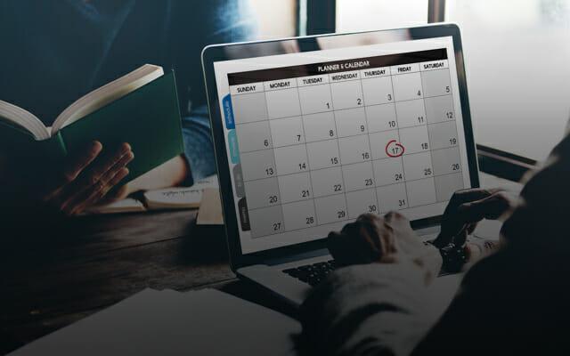Laptop calendar