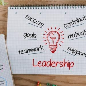 Notebooks with leadership ideas