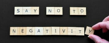 Say no to negativity tiles