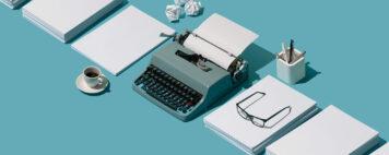 Vintage typewriter station
