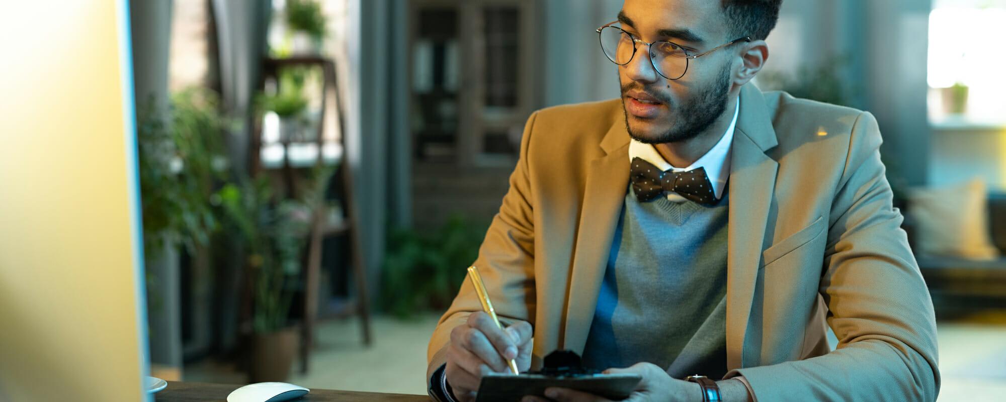 Business meeting online